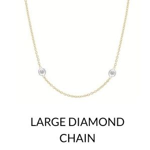 "Helen ficalora LG. Diamind 16"" yellow gold chain"